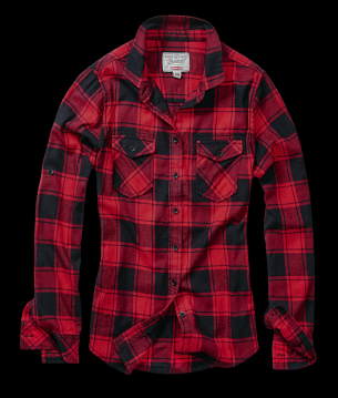 Image of Brandit - Amy Flanell Shirt GIRLS red/black