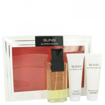 Image of Alfred SUNG by Alfred Sung Gift Set -- 3.4 oz Eau de Toilette Spray + 2.5 oz Body Lotion + 2.5 oz Shower Gel